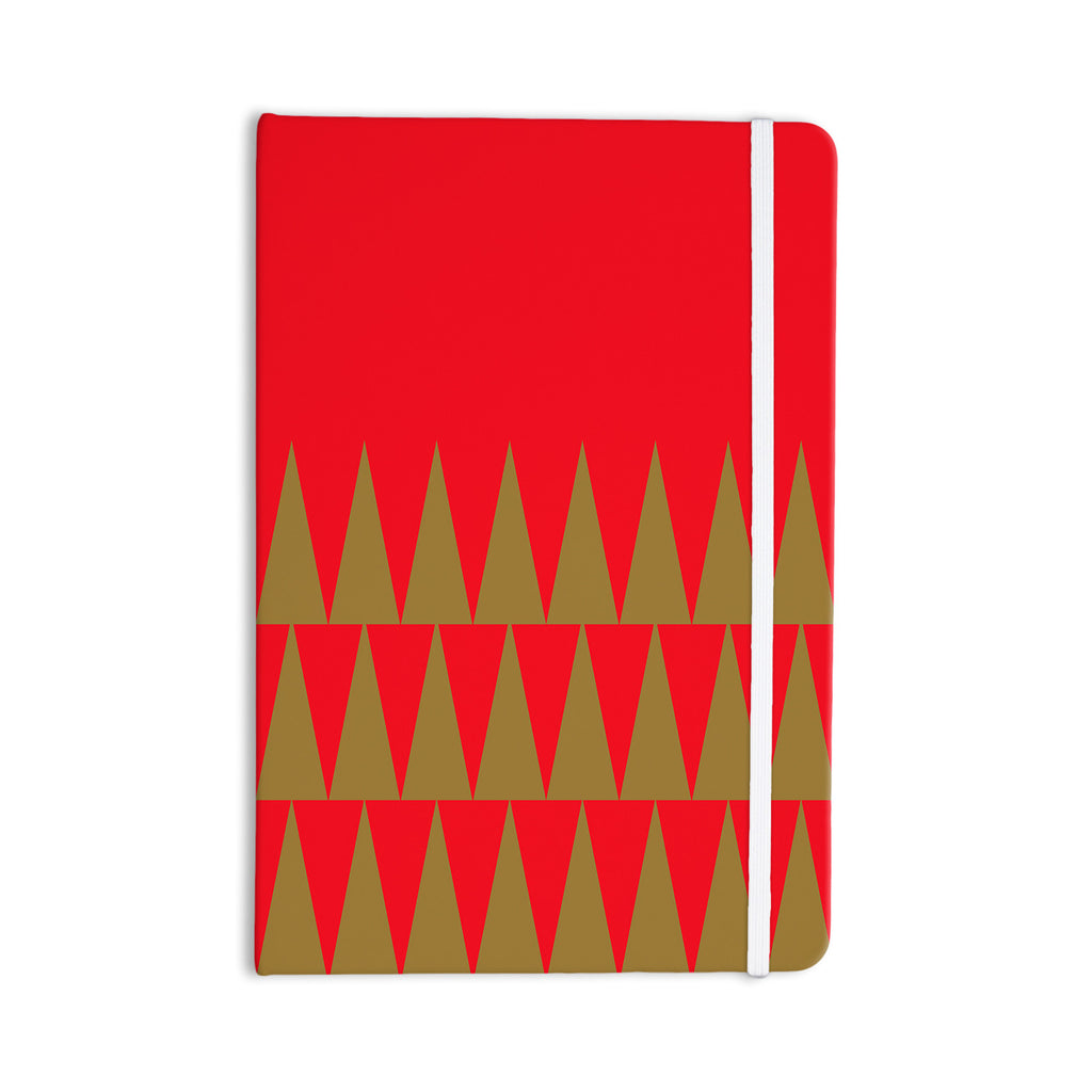 "Suzanne Carter ""Christmas 1"" Red Gold Everything Notebook - KESS InHouse  - 1"