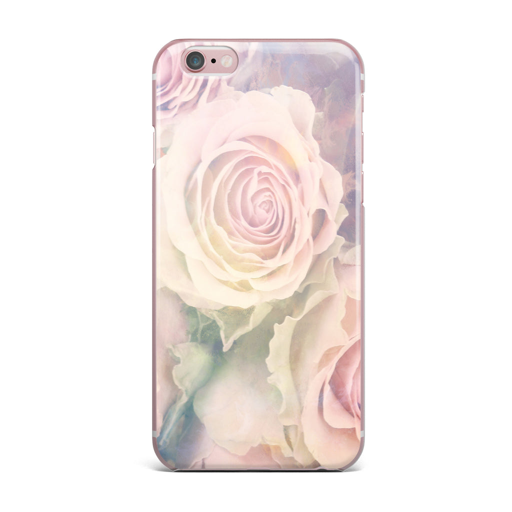 "Suzanne Carter ""Faded Beauty"" Blush Floral iPhone Case - KESS InHouse"