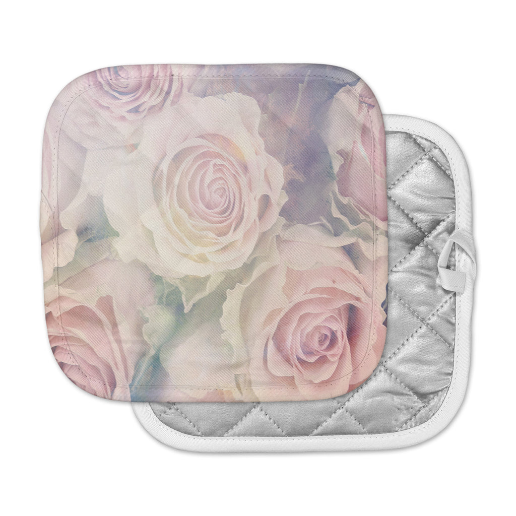 "Suzanne Carter ""Faded Beauty"" Blush Floral Pot Holder"
