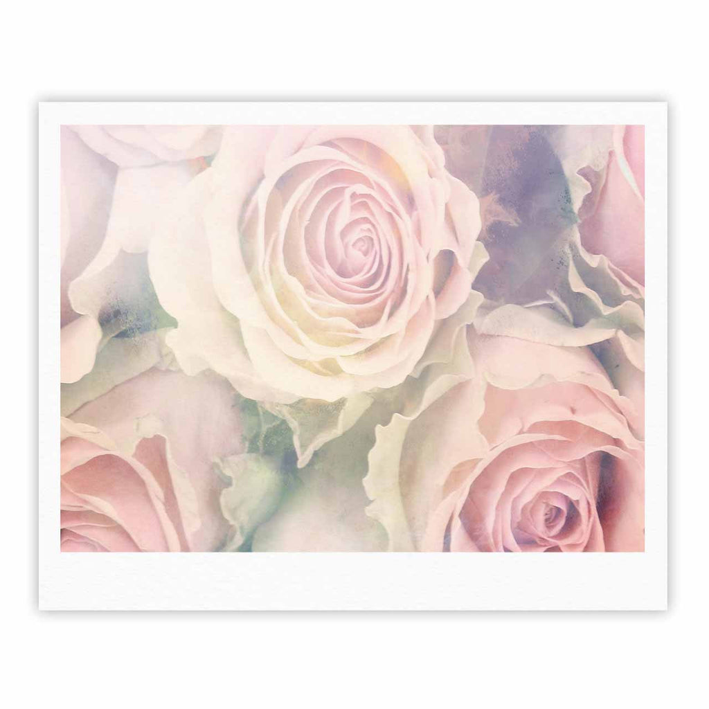 "Suzanne Carter ""Faded Beauty"" Blush Floral Fine Art Gallery Print - KESS InHouse"