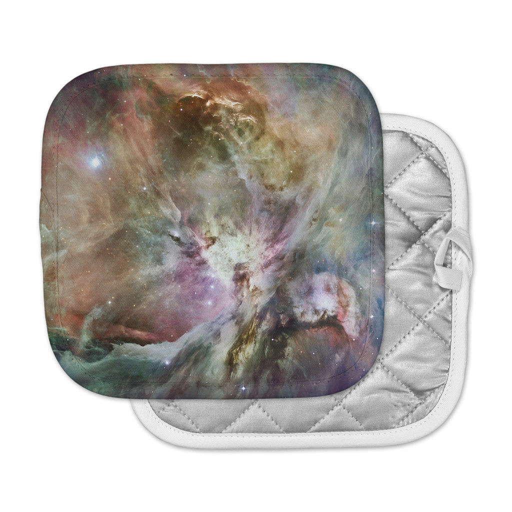 "Suzanne Carter ""Orion Nebula"" Celestial Gray Pot Holder"