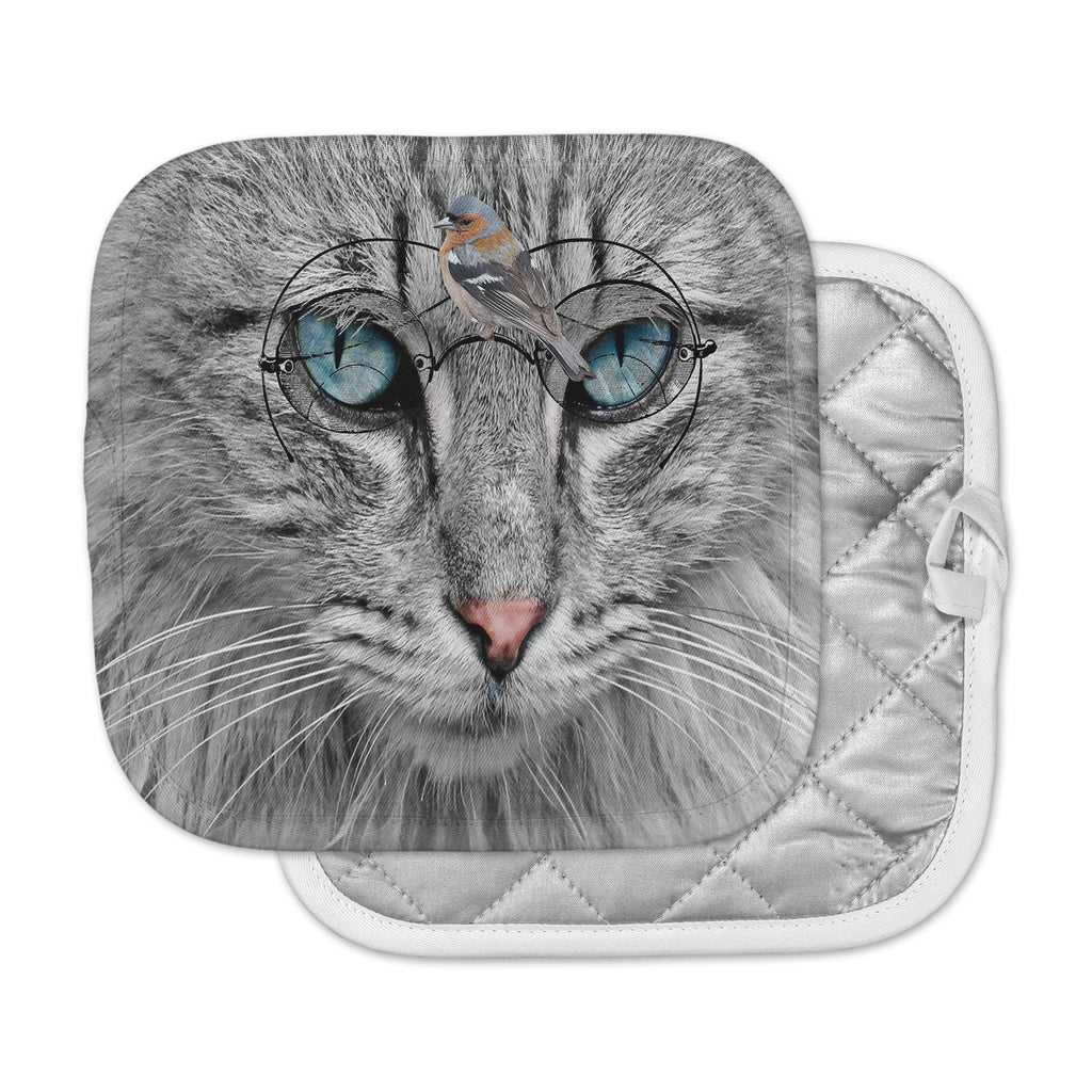 "Suzanne Carter ""Birds Eye View"" Fantasy Digital Pot Holder"