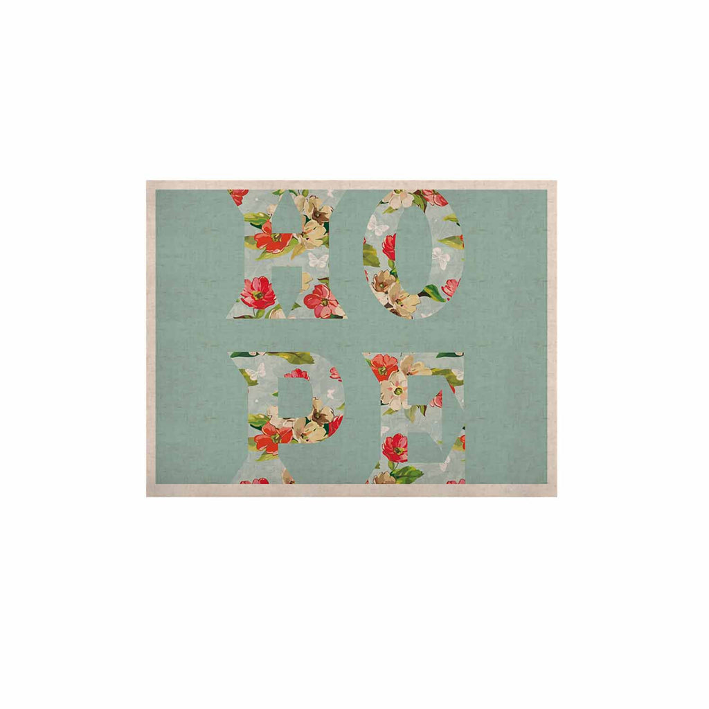 "Suzanne Carter ""Hope"" Green Floral KESS Naturals Canvas (Frame not Included) - KESS InHouse  - 1"