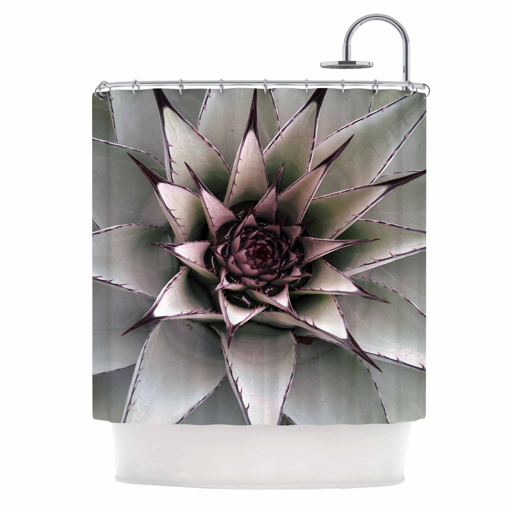 Succulent Shower Curtain by Suzanne Carter | KESS InHouse