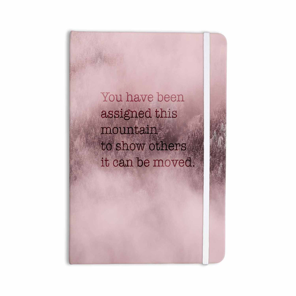 "Suzanne Carter ""Mountain"" Pink Digital Typography Everything Notebook - KESS InHouse  - 1"