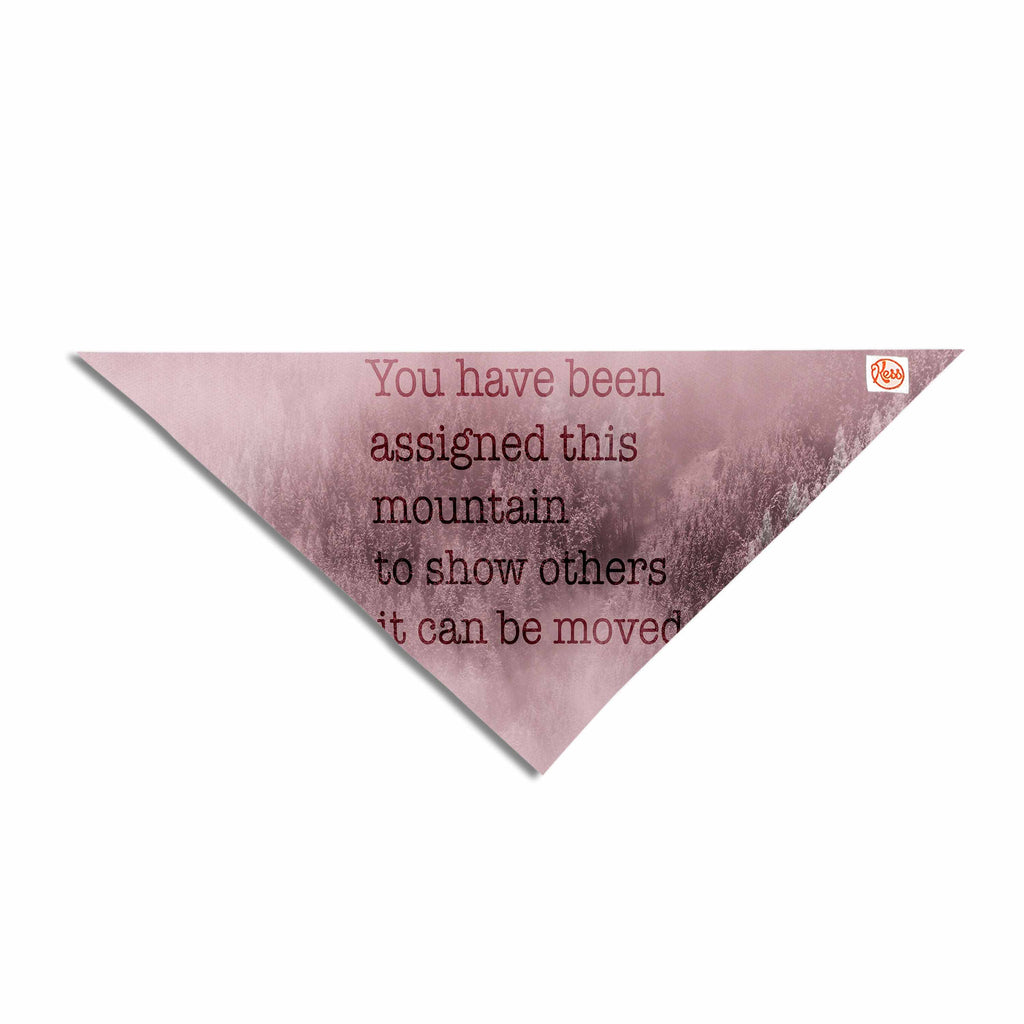 "Suzanne Carter ""Mountain"" Pink Digital Typography Pet Bandana"