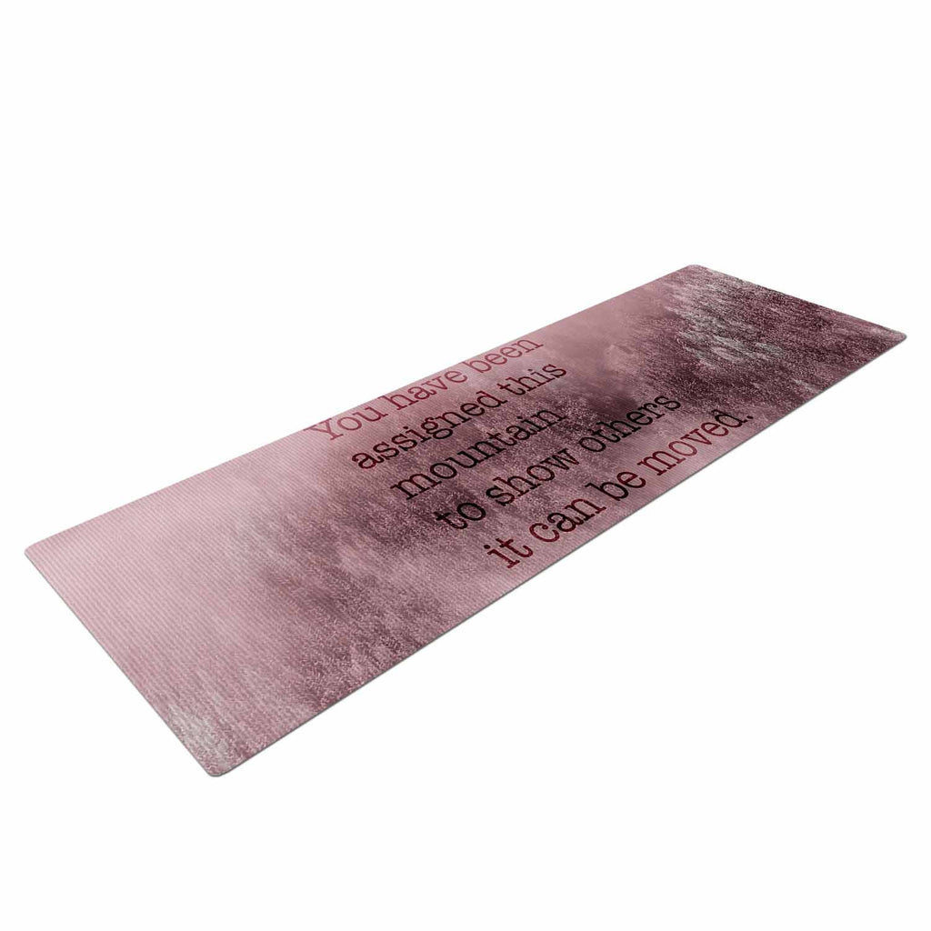 "Suzanne Carter ""Mountain"" Pink Digital Typography Yoga Mat"