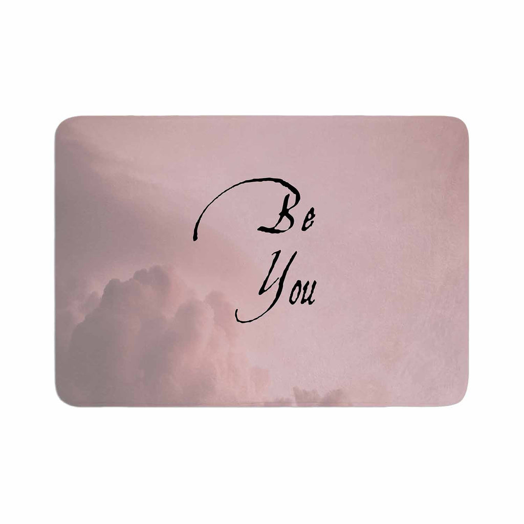 "Suzanne Carter ""Be You"" Pink Digital Typography Memory Foam Bath Mat"