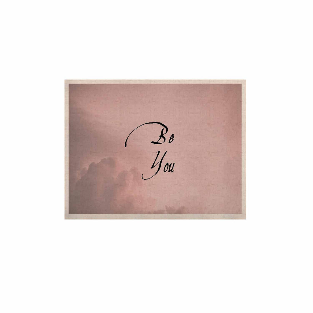 "Suzanne Carter ""Be You"" Pink Digital Typography KESS Naturals Canvas (Frame not Included)"