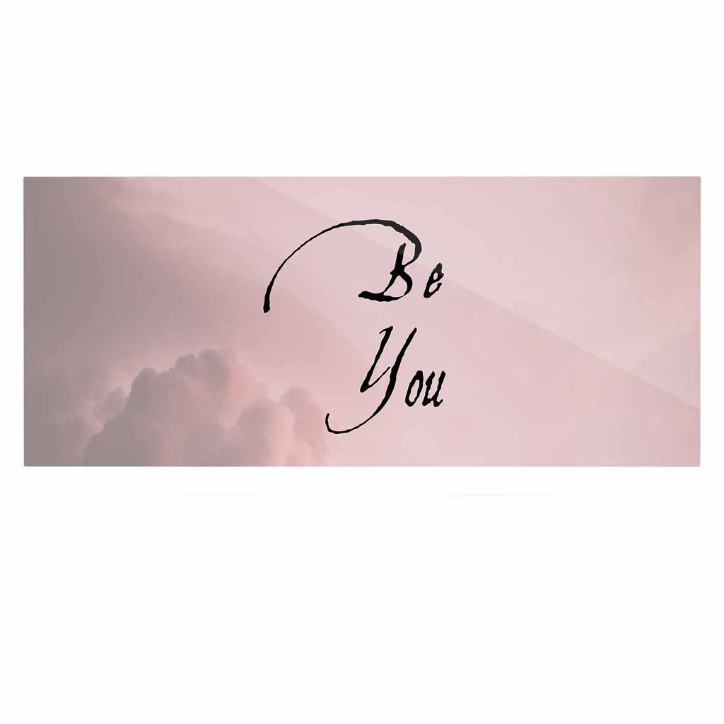"Suzanne Carter ""Be You"" Pink Digital Typography Luxe Rectangle Panel"