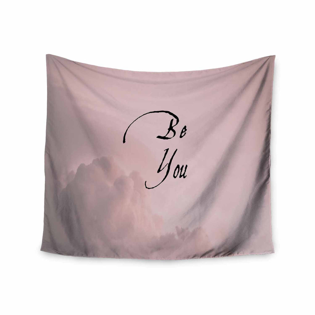 "Suzanne Carter ""Be You"" Pink Digital Typography Wall Tapestry - KESS InHouse  - 1"