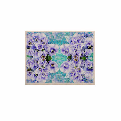 "Suzanne Carter ""Lilac"" Black Floral Abstract Digital Mixed Media KESS Naturals Canvas (Frame not Included)"