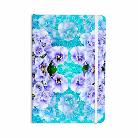 "Suzanne Carter ""Lilac"" Black Floral Abstract Digital Mixed Media Everything Notebook"