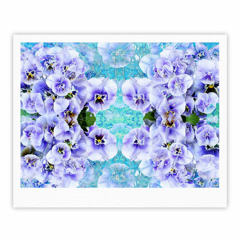 "Suzanne Carter ""Lilac"" Black Floral Abstract Digital Mixed Media Fine Art Gallery Print"
