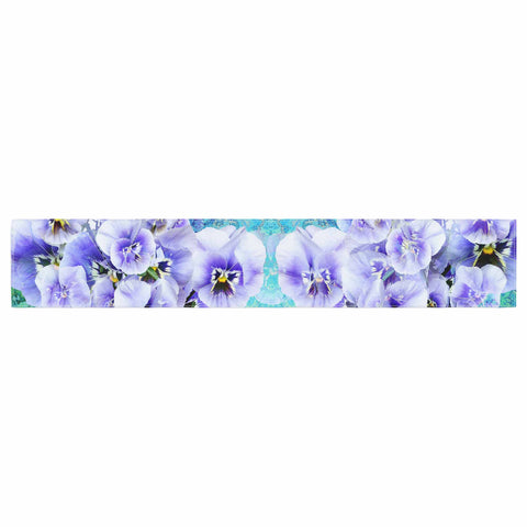 "Suzanne Carter ""Lilac"" Black Floral Abstract Digital Mixed Media Table Runner"