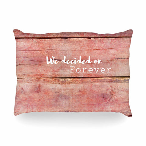 "Suzanne Carter ""Forever"" Black Typography Contemporary Digital Mixed Media Oblong Pillow"