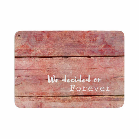 "Suzanne Carter ""Forever"" Black Typography Contemporary Digital Mixed Media Memory Foam Bath Mat"