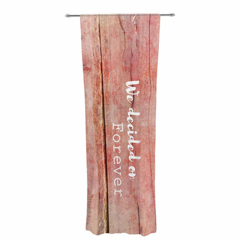 "Suzanne Carter ""Forever"" Black Typography Contemporary Digital Mixed Media Decorative Sheer Curtain"