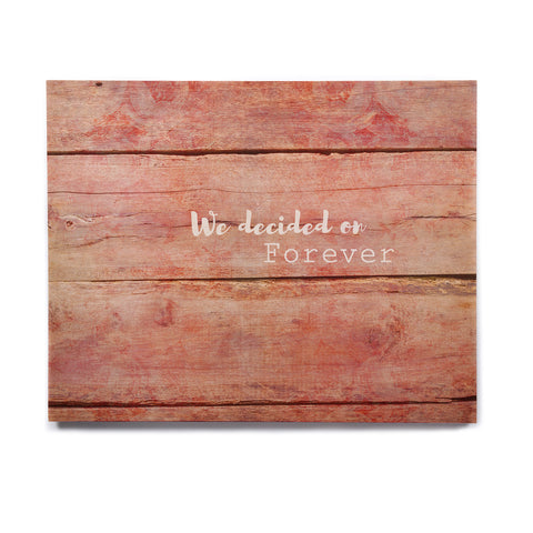 "Suzanne Carter ""Forever"" Black Typography Contemporary Digital Mixed Media Birchwood Wall Art"