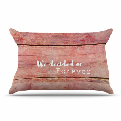 "Suzanne Carter ""Forever"" Black Typography Contemporary Digital Mixed Media Pillow Sham"