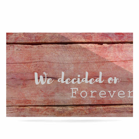 "Suzanne Carter ""Forever"" Black Typography Contemporary Digital Mixed Media Luxe Rectangle Panel"