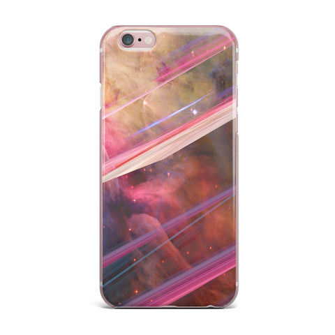 "Suzanne Carter ""Twisted Nebula"" Black Celestial Stripes Digital Mixed Media iPhone Case"