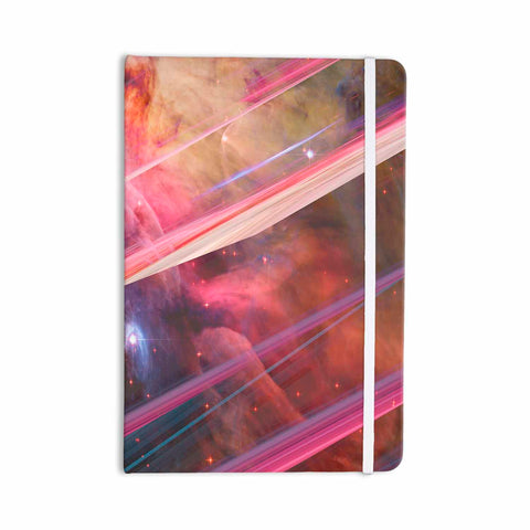 "Suzanne Carter ""Twisted Nebula"" Black Celestial Stripes Digital Mixed Media Everything Notebook"