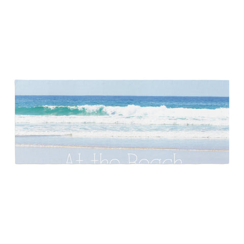 "Sylvia Coomes ""Life Is Better At The Beach"" Tan Blue Bed Runner - KESS InHouse"