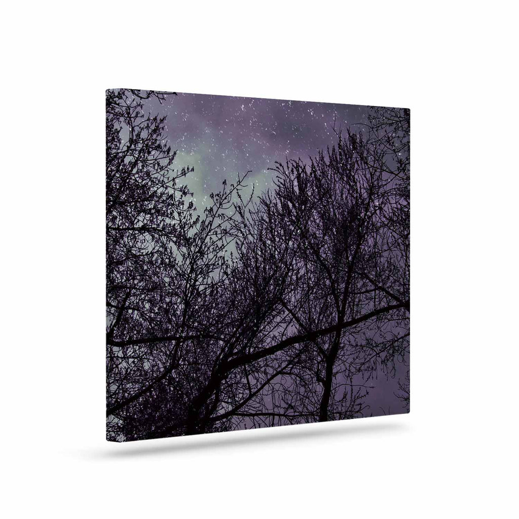 "Sylvia Coomes ""Purple Sky"" Lavender Black Canvas Art - KESS InHouse  - 1"