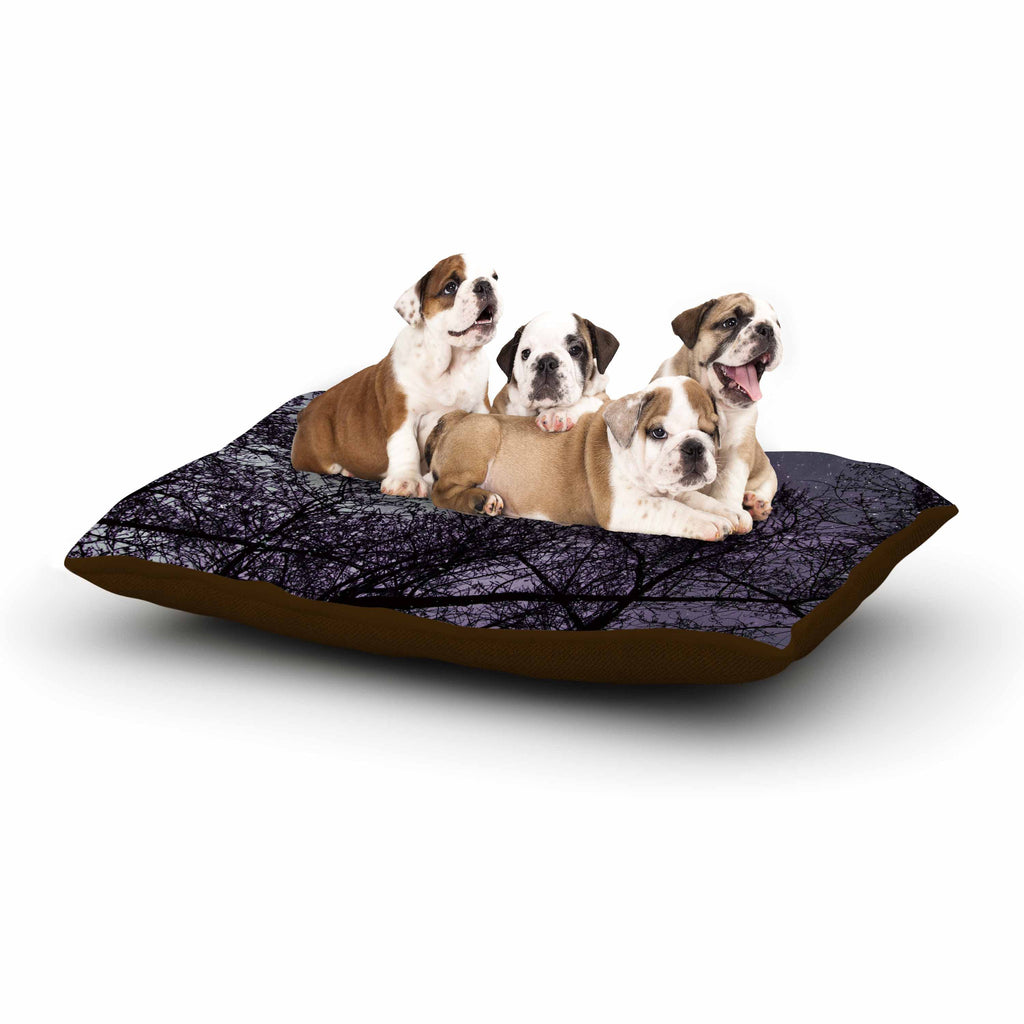 "Sylvia Coomes ""Purple Sky"" Lavender Black Dog Bed - KESS InHouse  - 1"