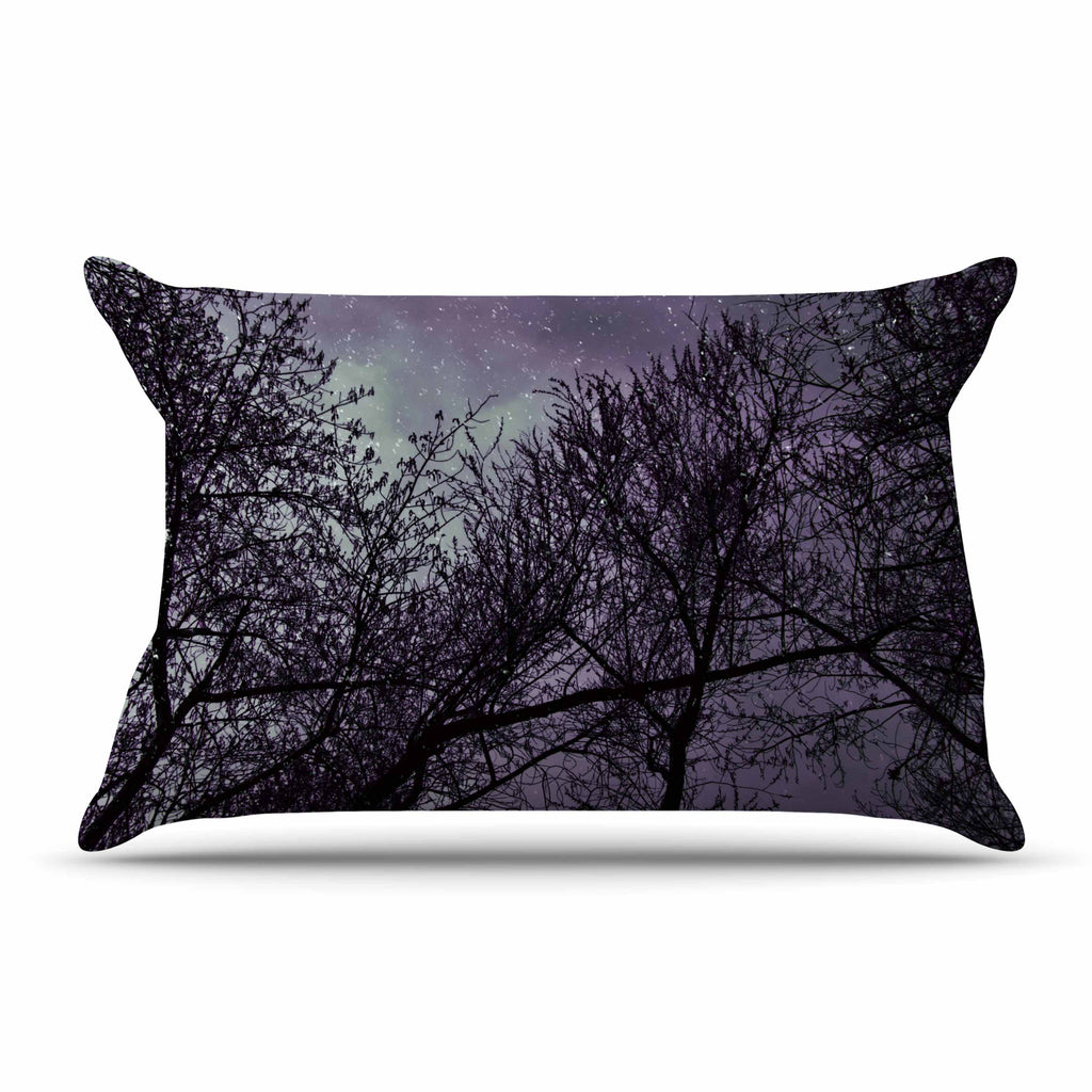 "Sylvia Coomes ""Purple Sky"" Lavender Black Pillow Sham - KESS InHouse"