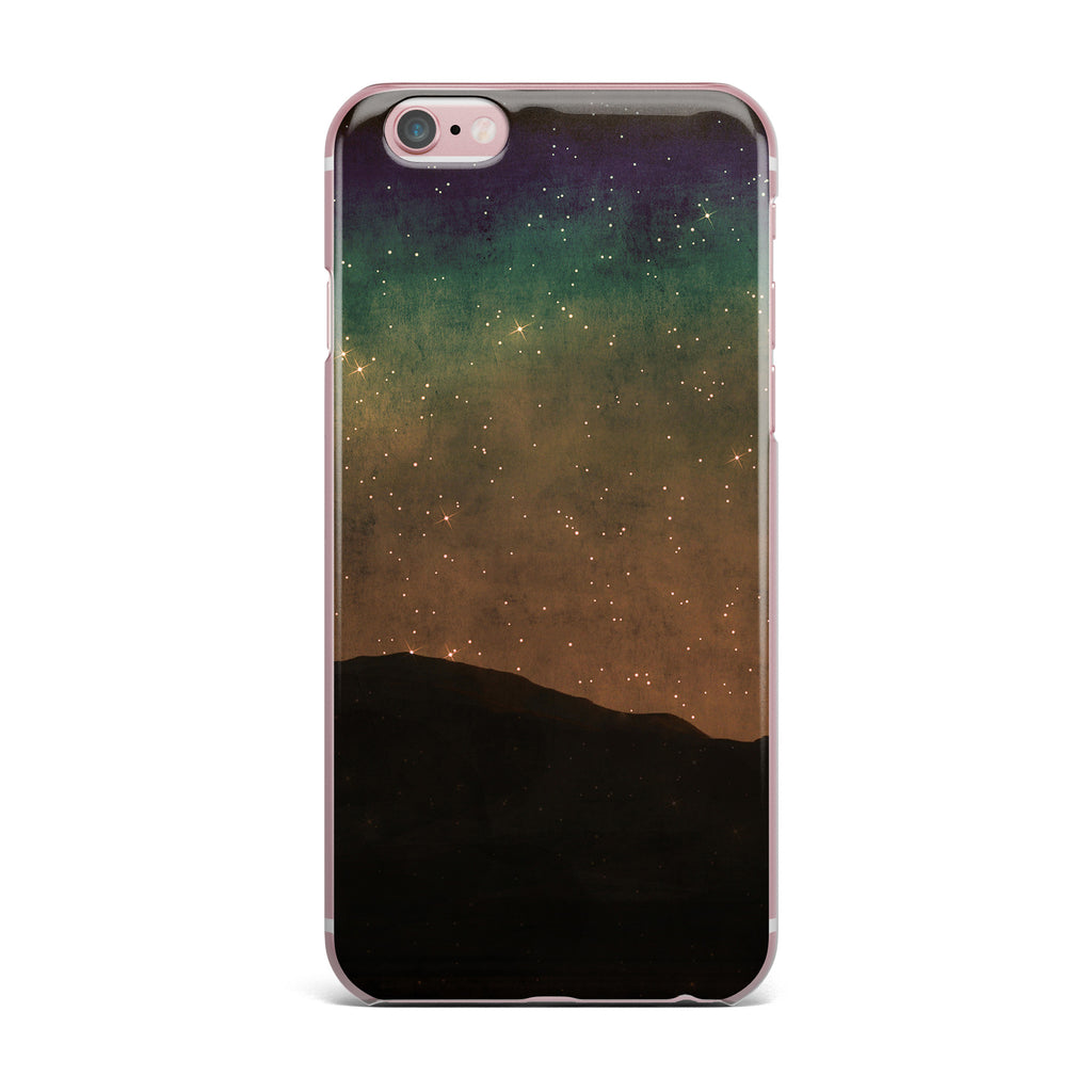 "Sylvia Coomes ""Star Light"" Teal Brown iPhone Case - KESS InHouse"