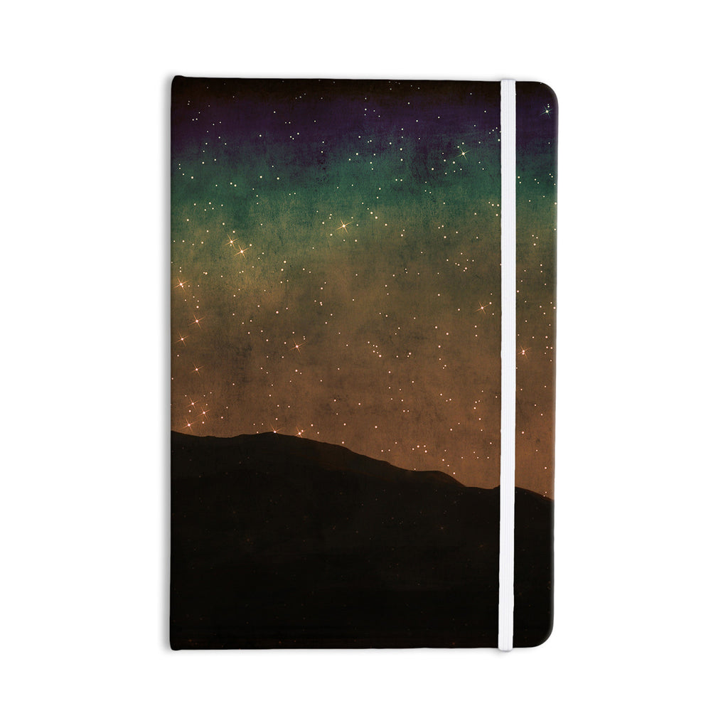 "Sylvia Coomes ""Star Light"" Teal Brown Everything Notebook - KESS InHouse  - 1"