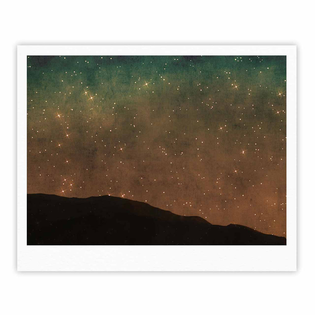 "Sylvia Coomes ""Star Light"" Teal Brown Fine Art Gallery Print - KESS InHouse"