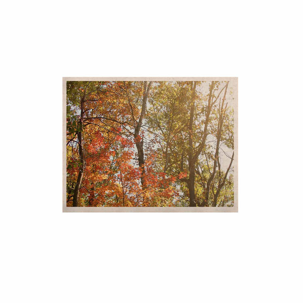 "Sylvia Coomes ""Autumn Trees 1"" Green Orange KESS Naturals Canvas (Frame not Included) - KESS InHouse  - 1"