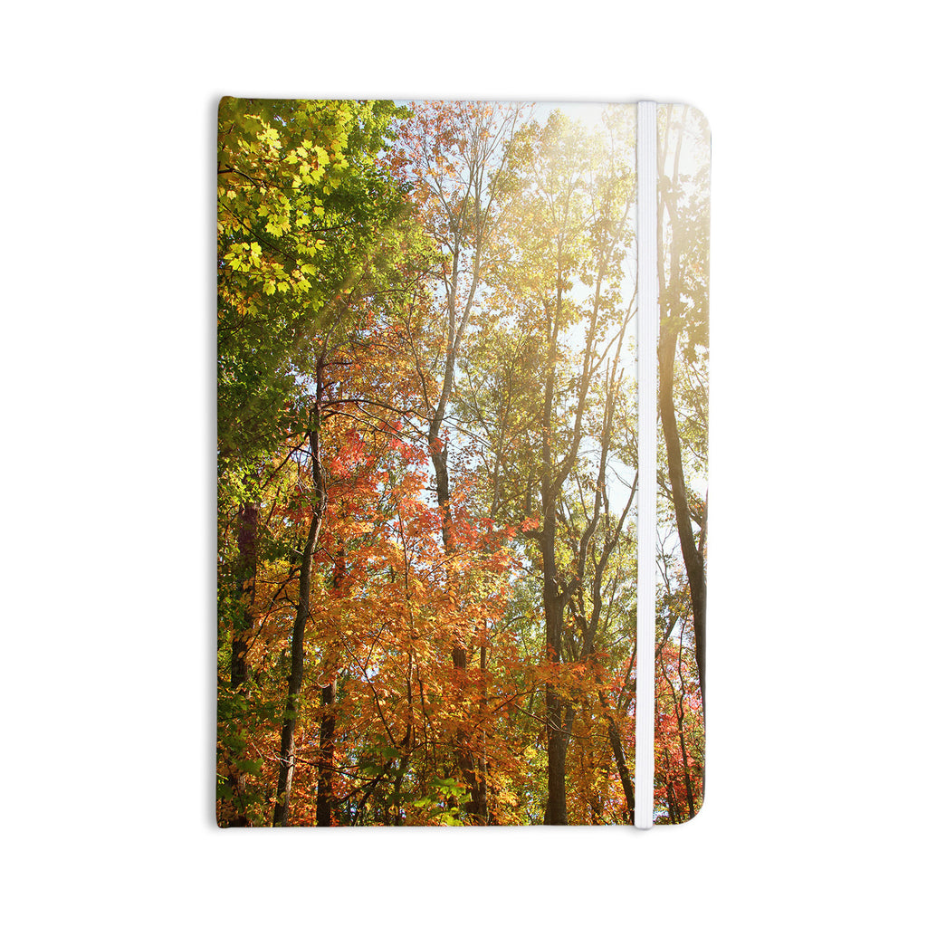 "Sylvia Coomes ""Autumn Trees 1"" Green Orange Everything Notebook - KESS InHouse  - 1"