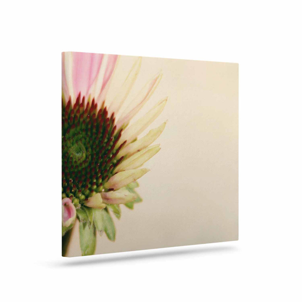 "Sylvia Coomes ""Pink And Yellow Flower"" Blush Floral Canvas Art - KESS InHouse  - 1"