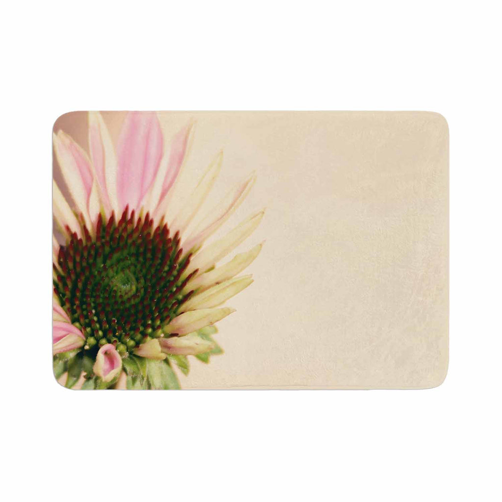 "Sylvia Coomes ""Pink And Yellow Flower"" Blush Floral Memory Foam Bath Mat - KESS InHouse"