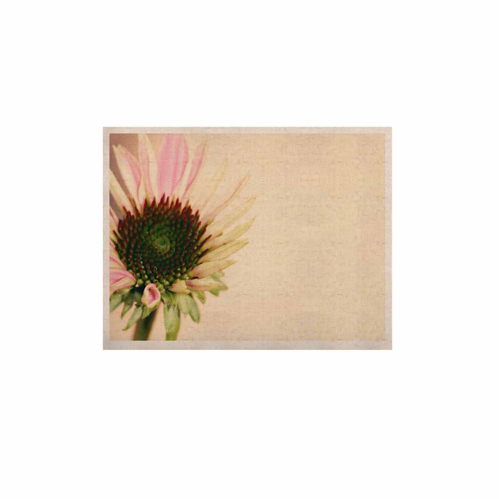 "Sylvia Coomes ""Pink And Yellow Flower"" Blush Floral KESS Naturals Canvas (Frame not Included) - KESS InHouse  - 1"