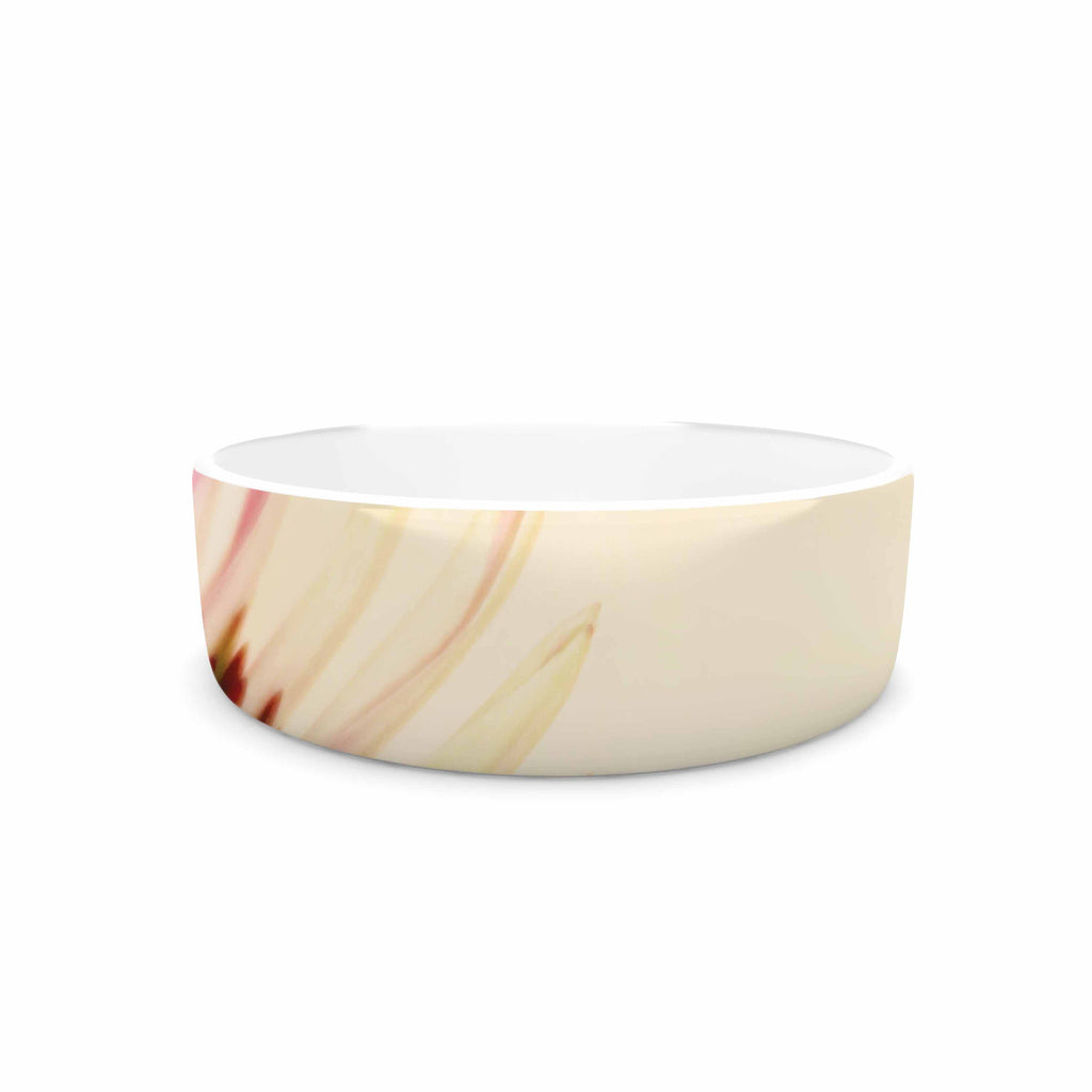 "Sylvia Coomes ""Pink And Yellow Flower"" Blush Floral Pet Bowl - KESS InHouse"
