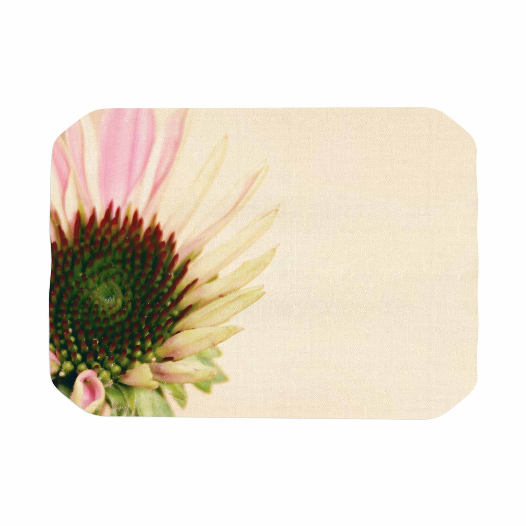 "Sylvia Coomes ""Pink And Yellow Flower"" Blush Floral Place Mat - KESS InHouse"