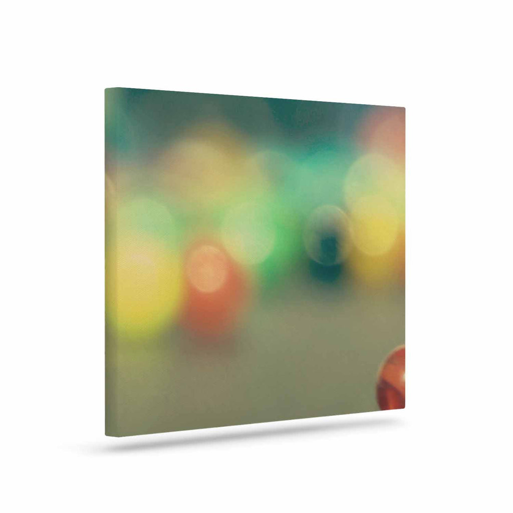 "Sylvia Coomes ""Marble Bokeh"" Multicolor Abstract Canvas Art - KESS InHouse  - 1"