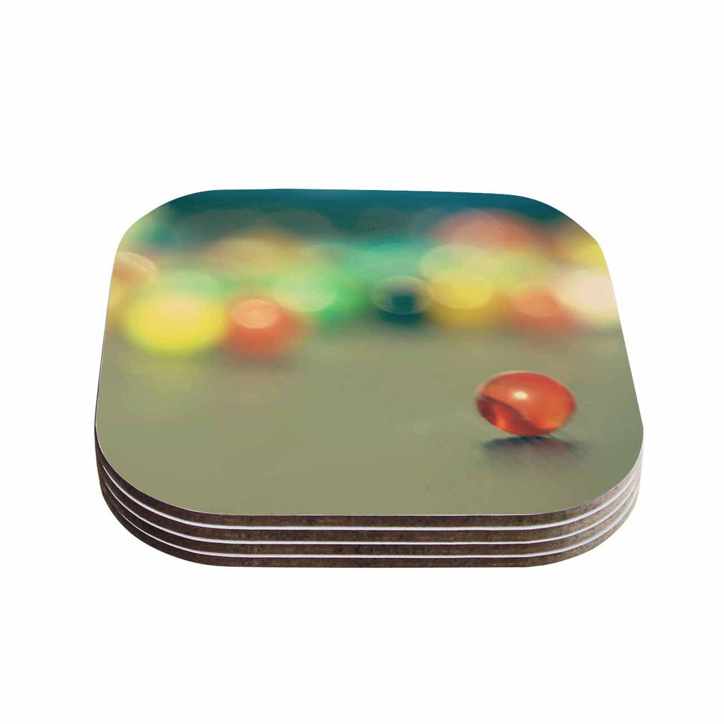 "Sylvia Coomes ""Marble Bokeh"" Multicolor Abstract Coasters (Set of 4)"