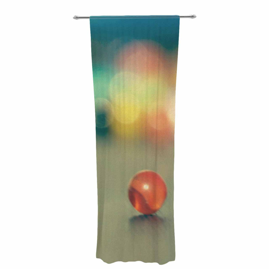 "Sylvia Coomes ""Marble Bokeh"" Multicolor Abstract Decorative Sheer Curtain - KESS InHouse  - 1"