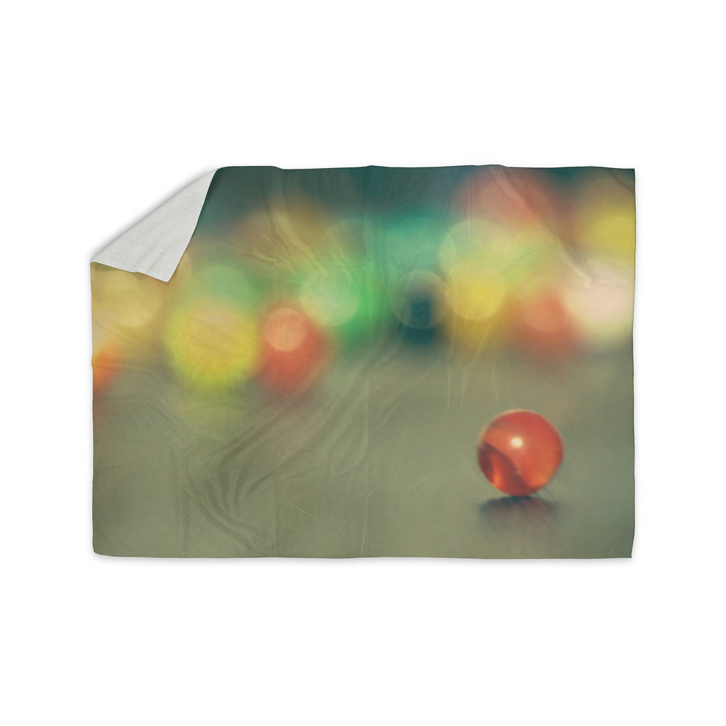 "Sylvia Coomes ""Marble Bokeh"" Multicolor Abstract Sherpa Blanket - KESS InHouse  - 1"