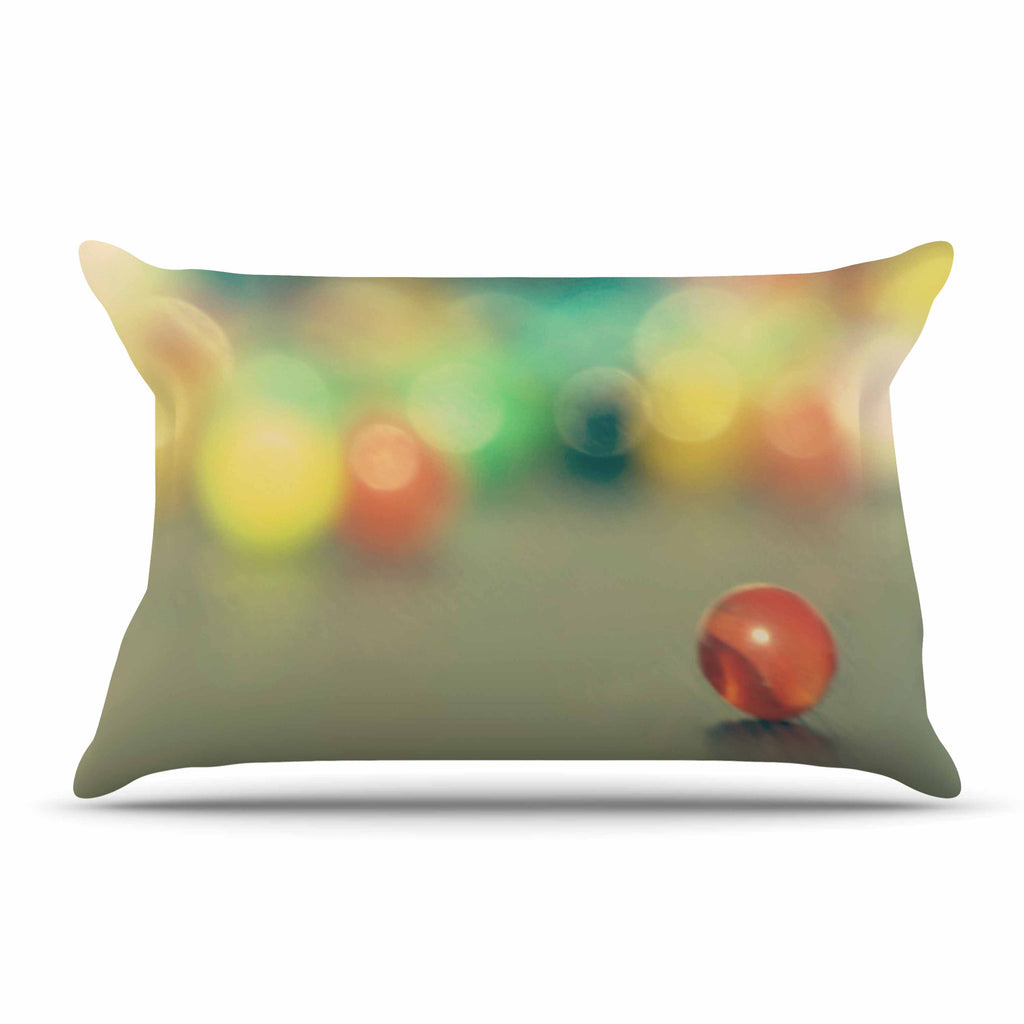 "Sylvia Coomes ""Marble Bokeh"" Multicolor Abstract Pillow Sham - KESS InHouse"