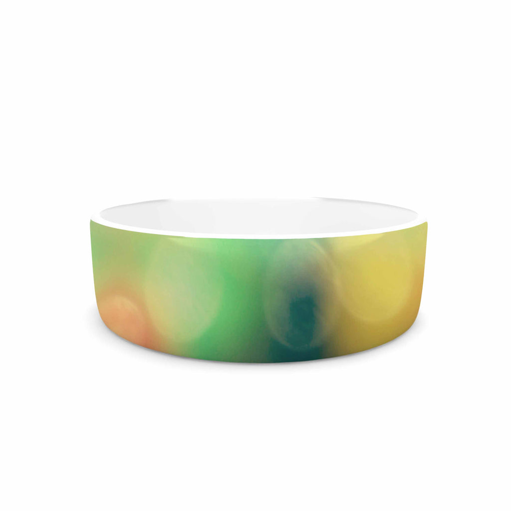 "Sylvia Coomes ""Marble Bokeh"" Multicolor Abstract Pet Bowl - KESS InHouse"