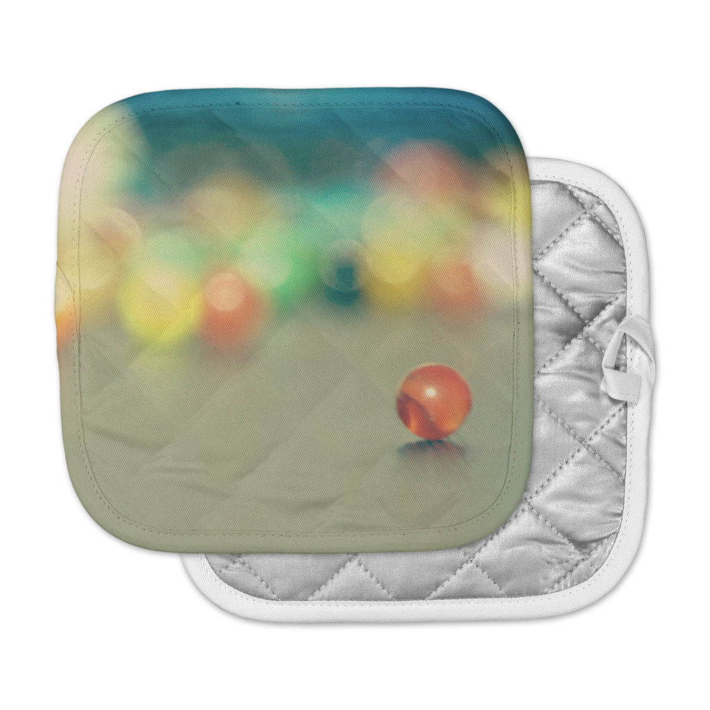 "Sylvia Coomes ""Marble Bokeh"" Multicolor Abstract Pot Holder"