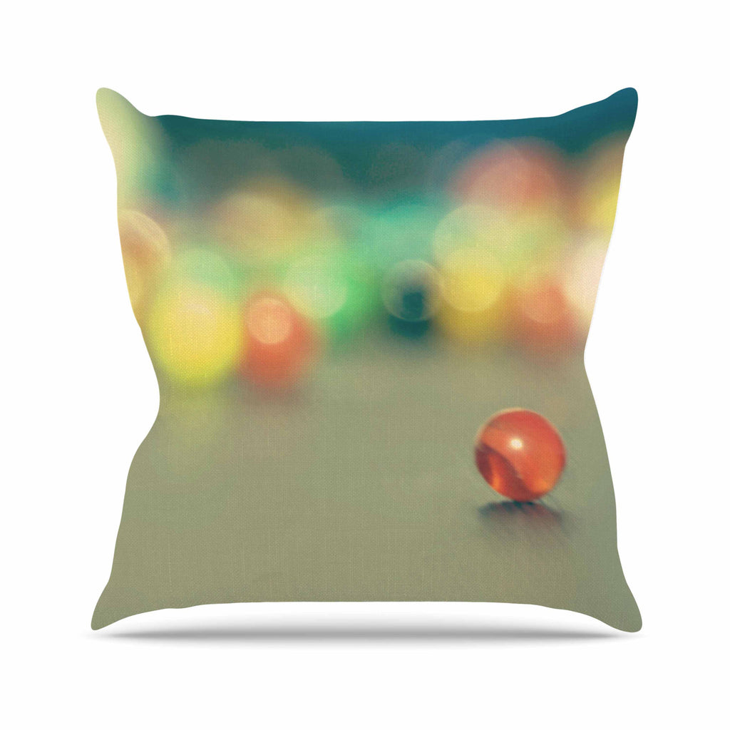 "Sylvia Coomes ""Marble Bokeh"" Multicolor Abstract Outdoor Throw Pillow - KESS InHouse  - 1"