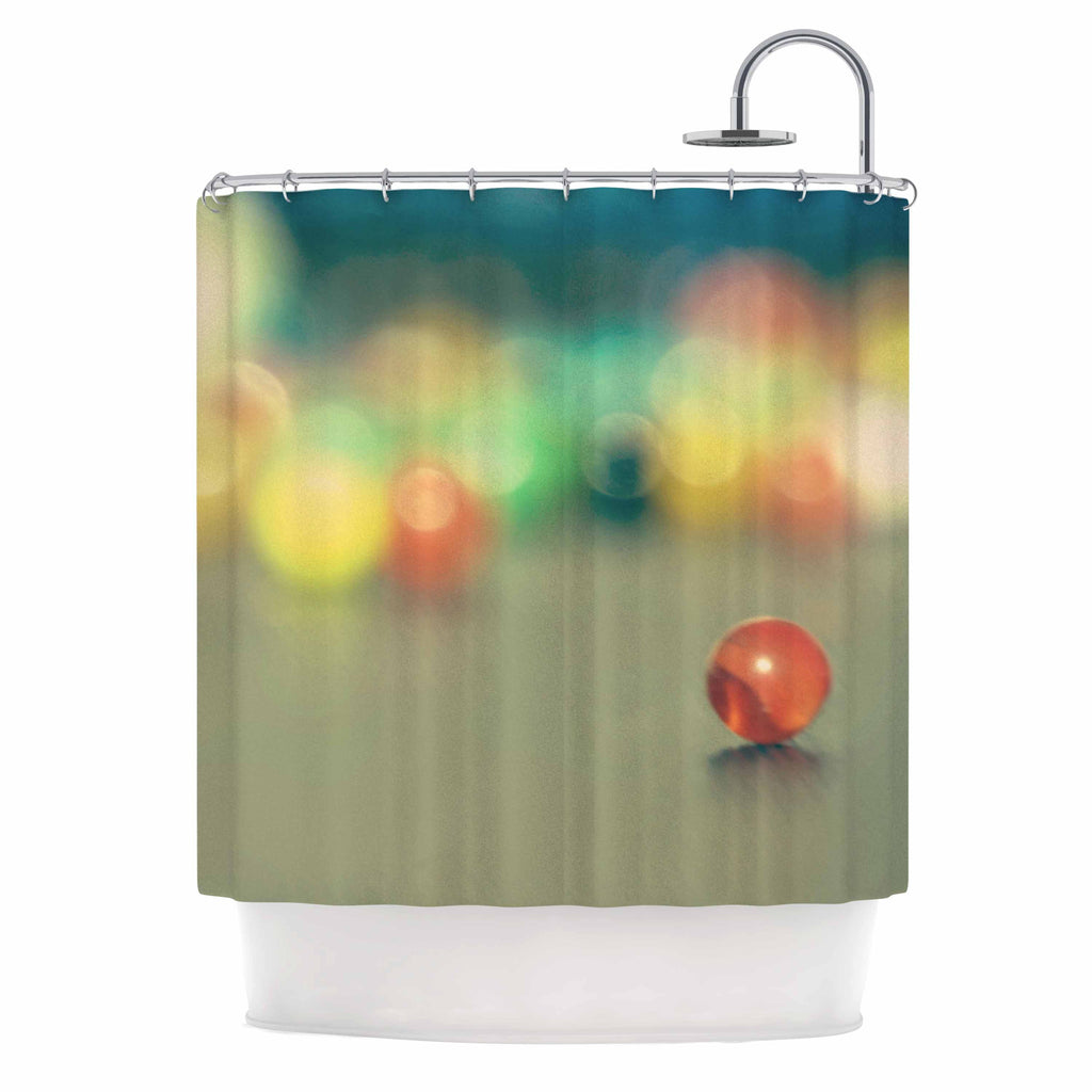 "Sylvia Coomes ""Marble Bokeh"" Multicolor Abstract Shower Curtain - KESS InHouse"